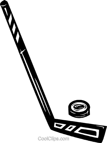 359x480 Hockey Stick Amp Puck Royalty Free Vector Clip Art Illustration