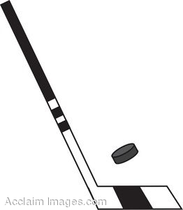262x300 Clip Art Of A Hockey Stick With Puck