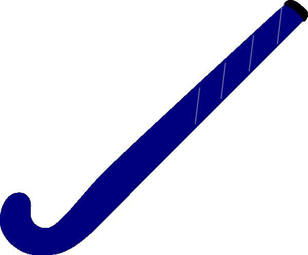 600x497 Hockey Stick Blue Clip Art