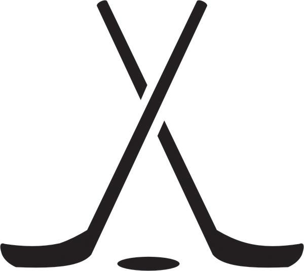 600x535 Hockey Stick Clip Art