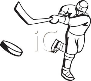 300x267 Gallery For Gt Hockey Player Clipart Black And White