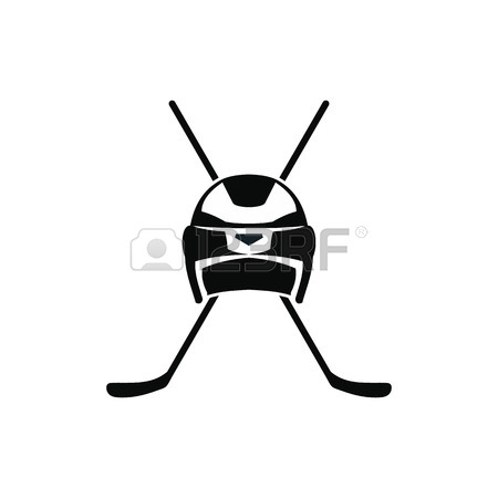 450x450 Hockey Stick Black Simple Icon Isolated On White Background
