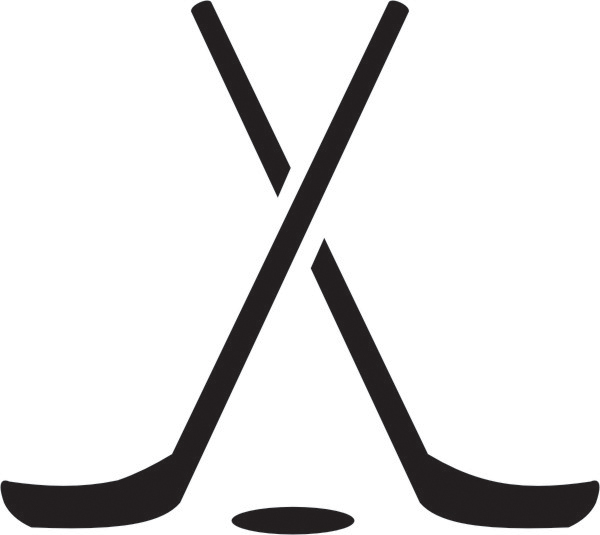 600x535 Black Clipart Hockey Stick
