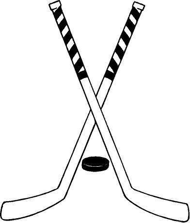 392x460 Graphics For Crossed Hockey Sticks Graphics