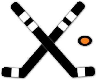 340x279 Hockey Sticks And Puck Clip Art