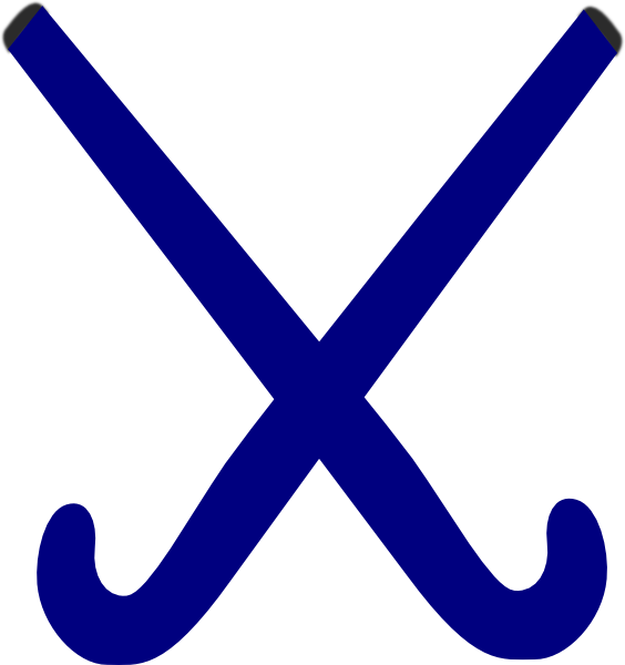564x600 Hockey Sticks Blue Clip Art