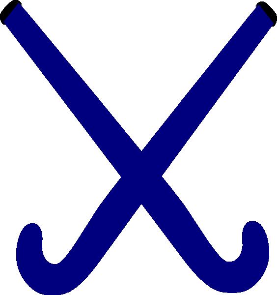 564x600 Hockey Sticks Blue Clip Art