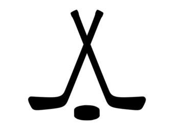 340x270 Hockey Sticks Clipart