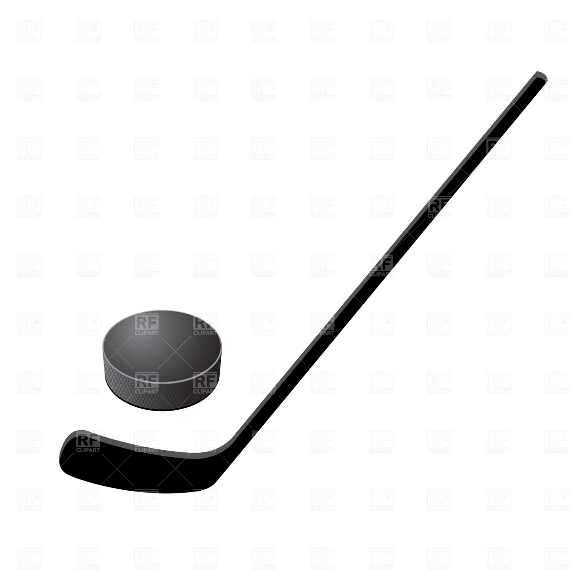 1200x1200 Hockey Stick And Puck Free Vector Clip Art Image