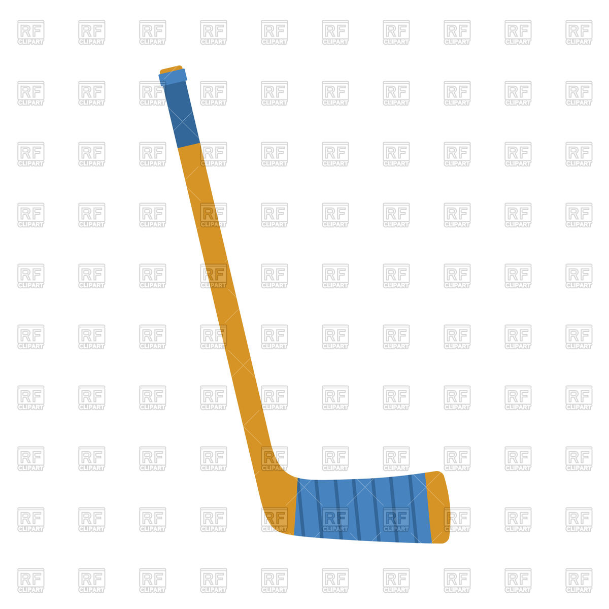 1200x1200 Hockey Stick Isolated Royalty Free Vector Clip Art Image