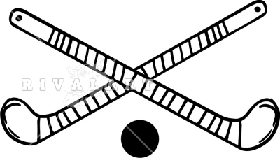 400x226 Crossed Field Hockey Sticks Clipart