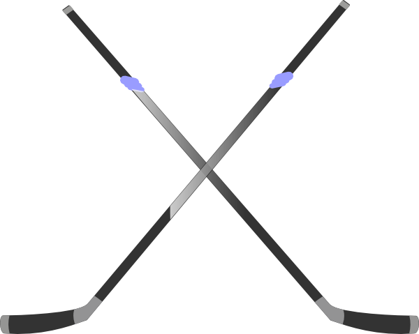 600x479 Double Hockey Stick Clip Art