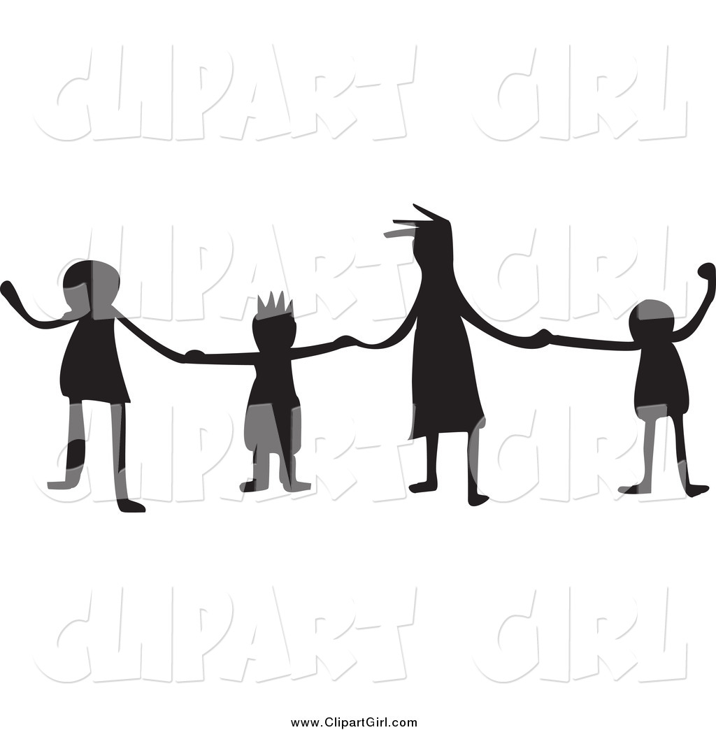 1024x1044 Clip Art Of Silhouetted Kids Holding Hands By Prawny