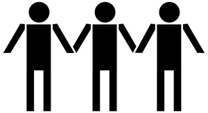 300x164 People Clipart Holding Hand