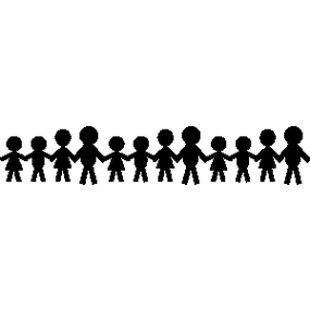 285x285 Children Holding Hands Clipart Black And White