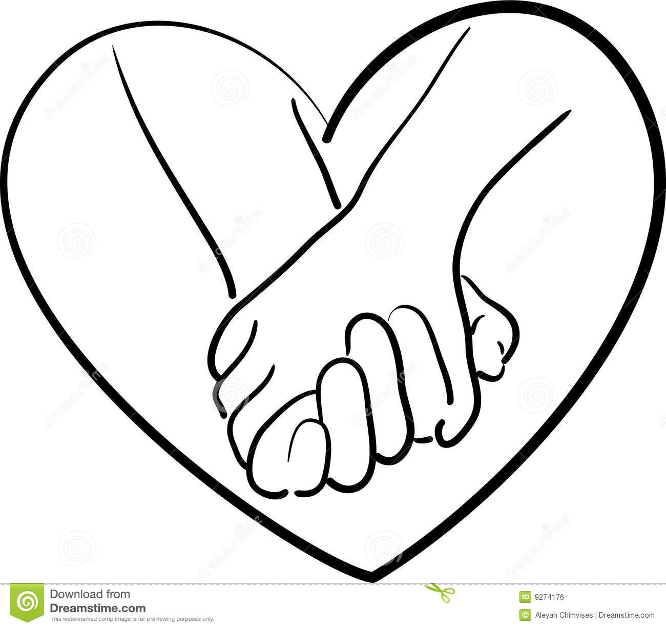 Holding Hands Clipart Black And White | Free download on ...