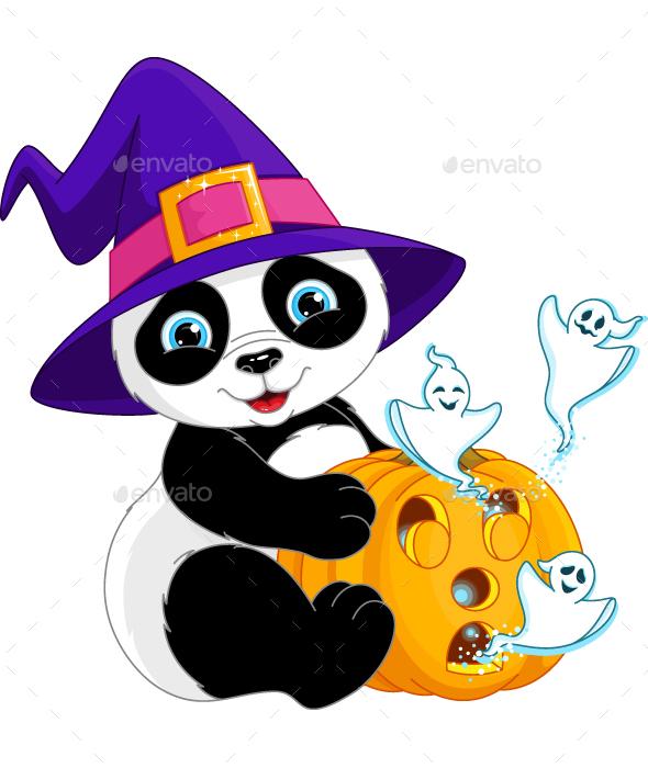590x700 Download Free Panda Halloween