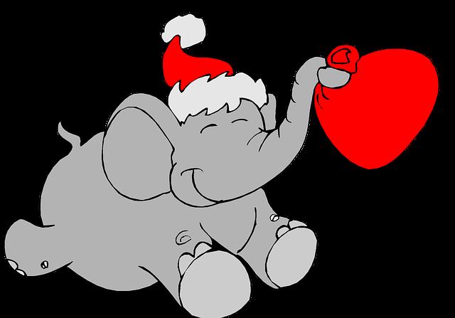 640x447 Free Photo Heart Love Christmas Clip Art Holiday Elephant