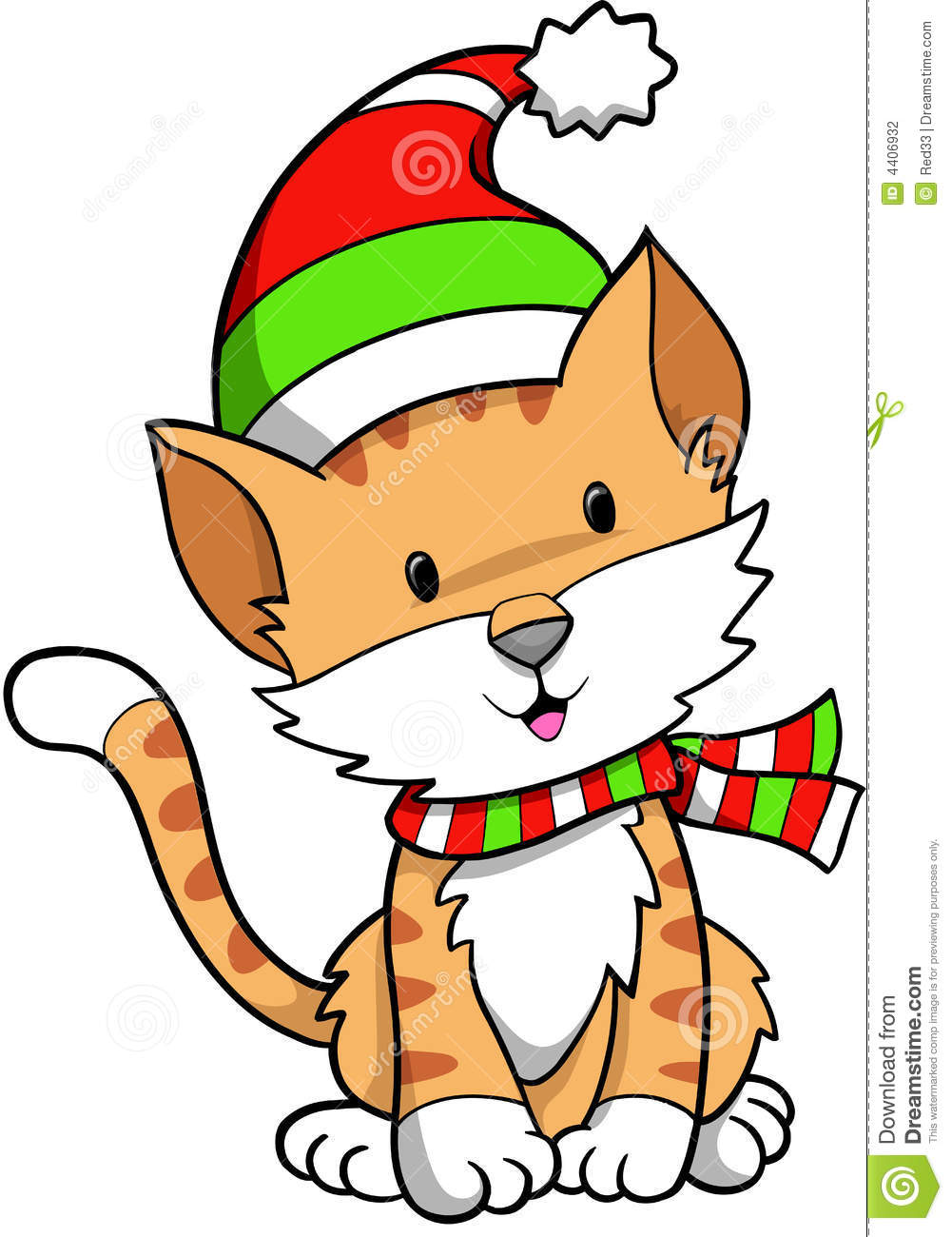 1001x1300 Holiday Cat Clipart