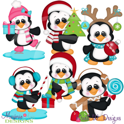 400x400 Penguin Clipart Holiday