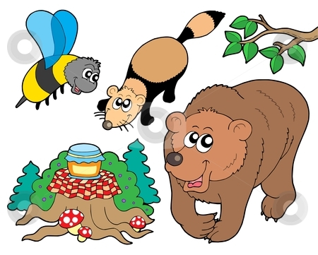 450x361 Clipart Of Forest Animals Singing Holiday Songs