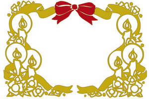 300x200 Clipart Picture Of A Christmas Border Of Candles