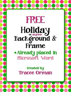 271x350 Free Holiday Color Polka Dots Clip Art Frame In Word By Tracee Orman