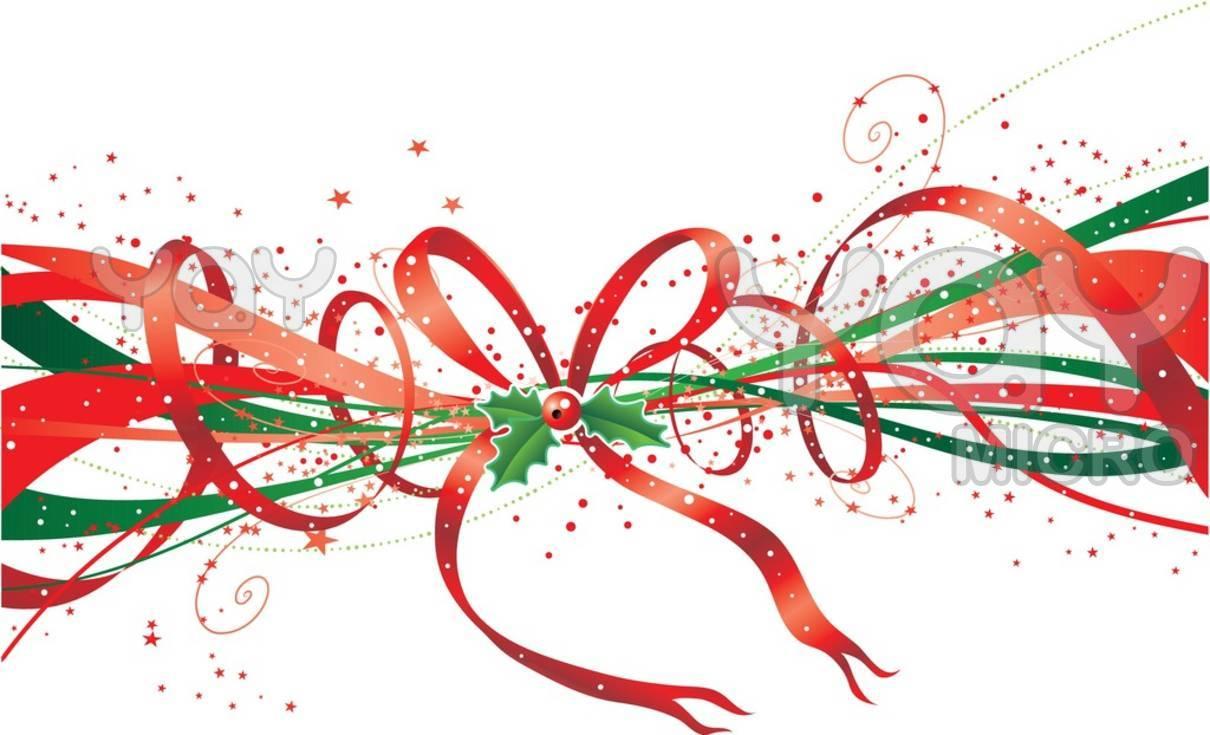 1210x735 Holiday Ribbon Clipart