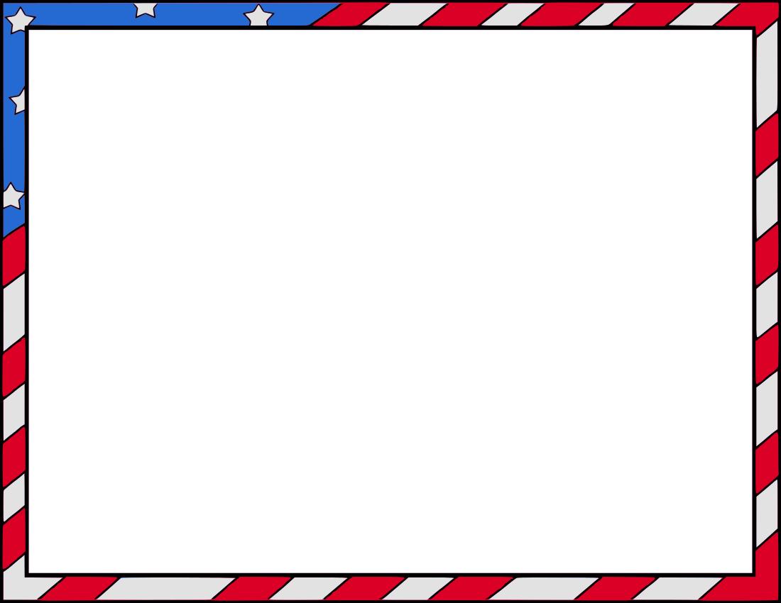 1100x850 Memorial Day Borders Clipart