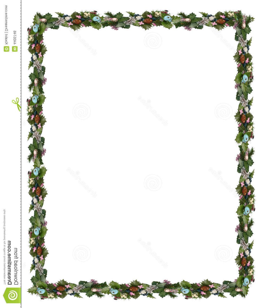 1095x1300 Best Free Garland Border Clip Winter Holiday Art Images