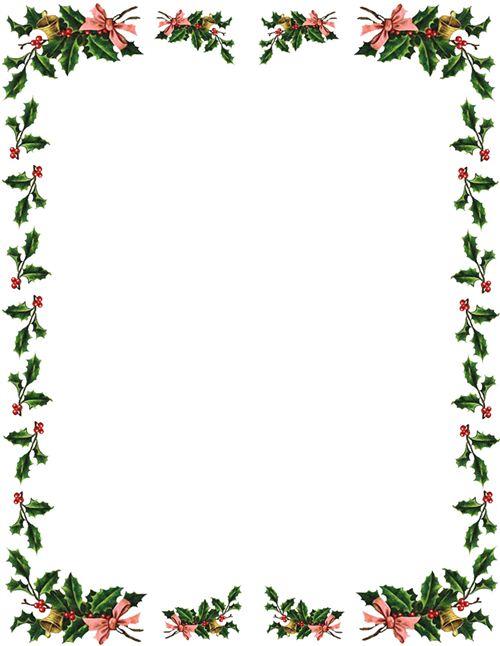 500x646 Christmas Clip Art Borders Holly