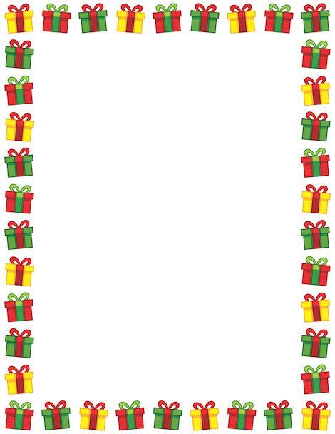 470x608 Christmas Gift Border Clip Art
