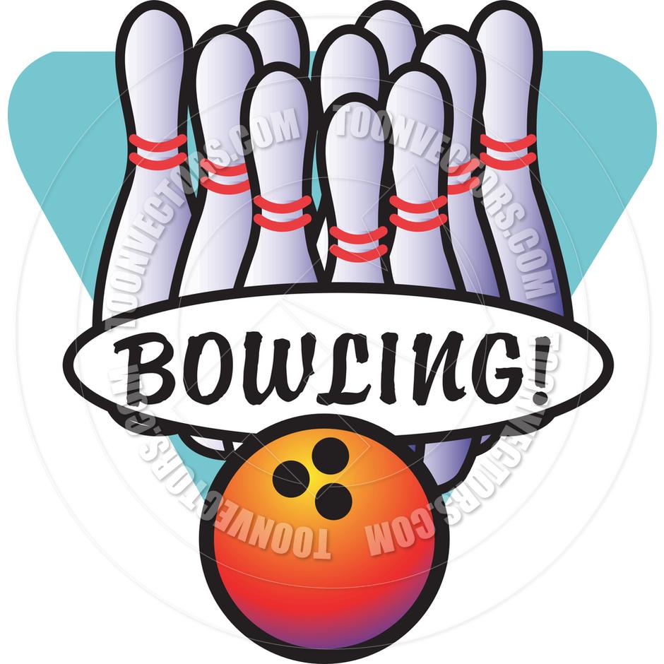 940x940 Cartoon Bowling Vector Illustration By Clip Art Guy Toon Vectors