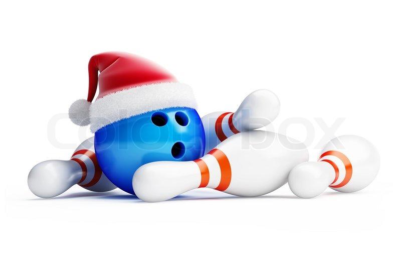 800x518 Christmas Bowling Clipart