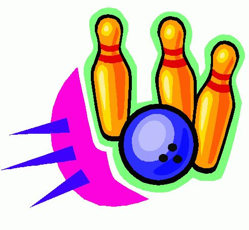 491x454 Holiday Bowling Clipart