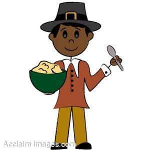 300x300 Clip Art Of A Black Pilgrim Boy