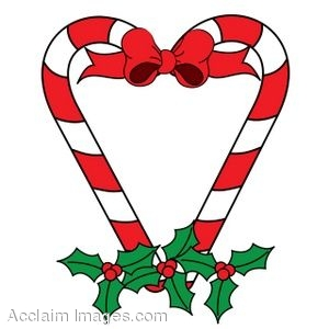 300x300 Clip Art Of A Christmas Heart Made Of Candy Canes