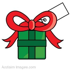 300x300 Clip Art Of A Christmas Present With A Gift Tag On It