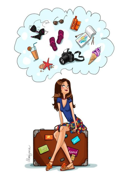 522x740 Travel Girl Illustration Illustrations Girl