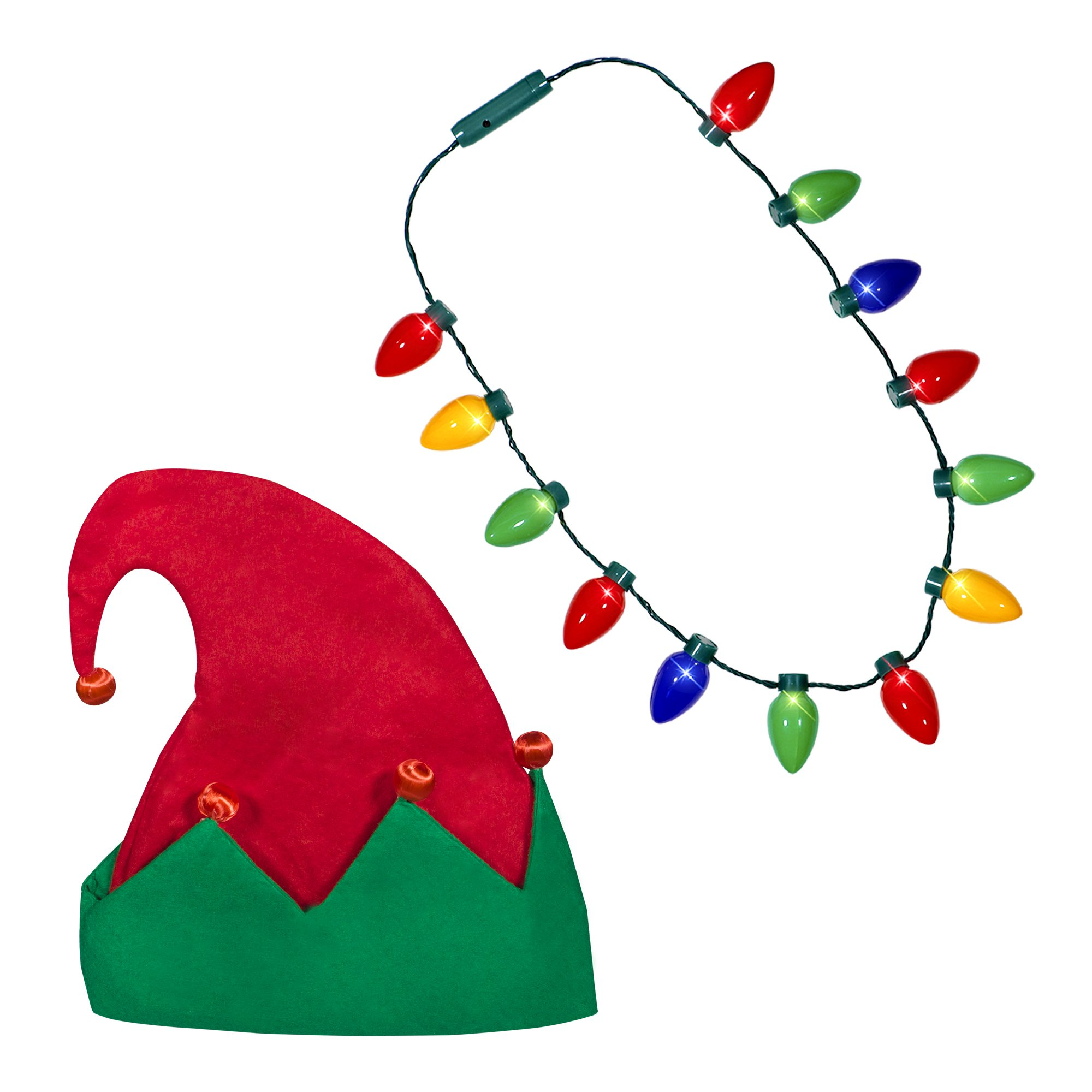 2000x2000 Holiday Christmas Santa Hat + Led Christmas Bulb