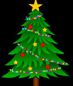 255x297 Christmas Tree Clip Art With Lights Clipart Panda