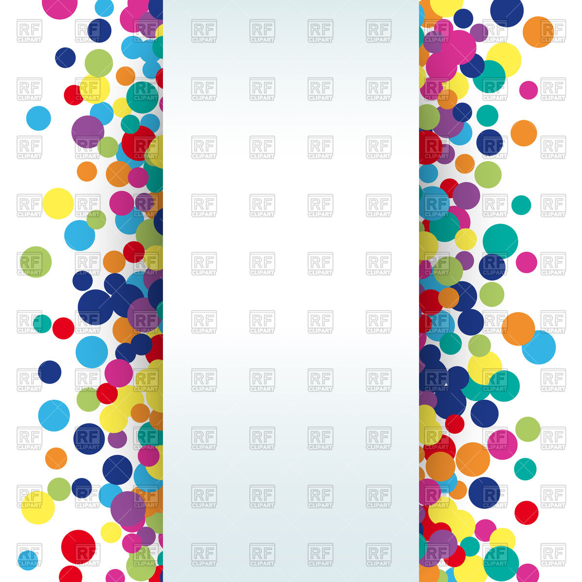 1200x1200 Colorful Abstract Spot Background Royalty Free Vector Clip Art