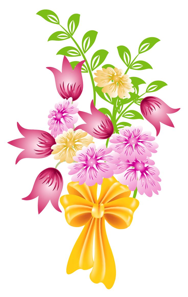 736x1159 Flower Bouquet Free Clip Art From Vintage Holiday Crafts Blog