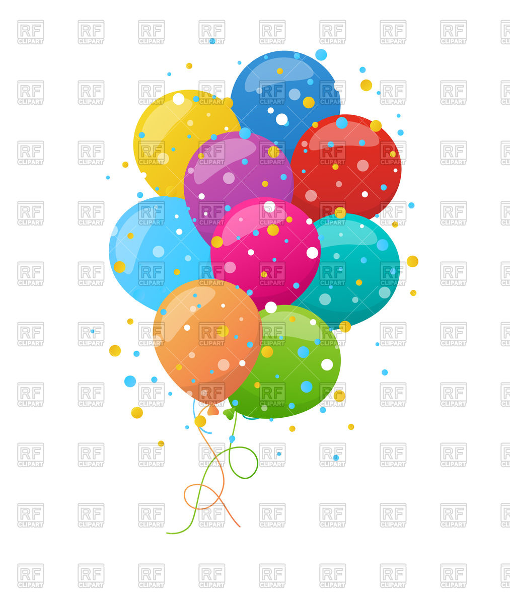 1013x1200 Holiday Background With Bunch Of Colorful Balloons Royalty Free
