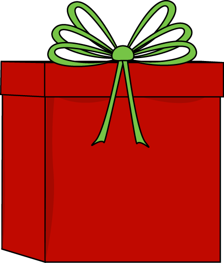 460x539 Red And Green Christmas Gift Clip Art
