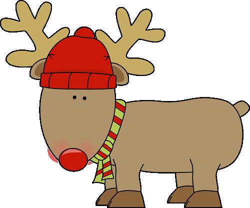 500x416 Holiday Reindeer Clip Art