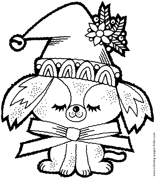 534x605 Holiday Coloring Page