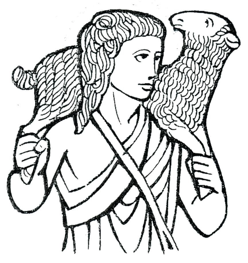 865x918 I Am The Good Shepherd Coloring Page See More At My 25 Stunning