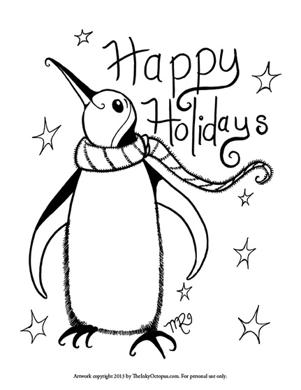 431x559 Printable Holiday Coloring Pages