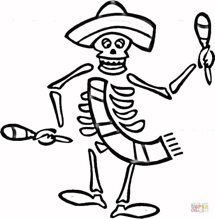 707x720 Spanish Holiday Dia De Los Muertos Coloring Page Free Printable
